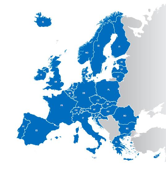 © Union européenne  Les pays signataires du règlement de Dublin.