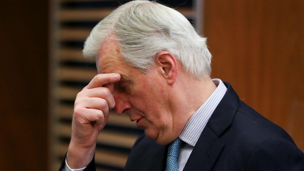 El negociador principal del Brexit de la Unión Europea, Michel Barnier, participa en la reunión semanal de colegios de la Comisión de la UE en Bruselas, Bélgica, el 6 de marzo de 2019.