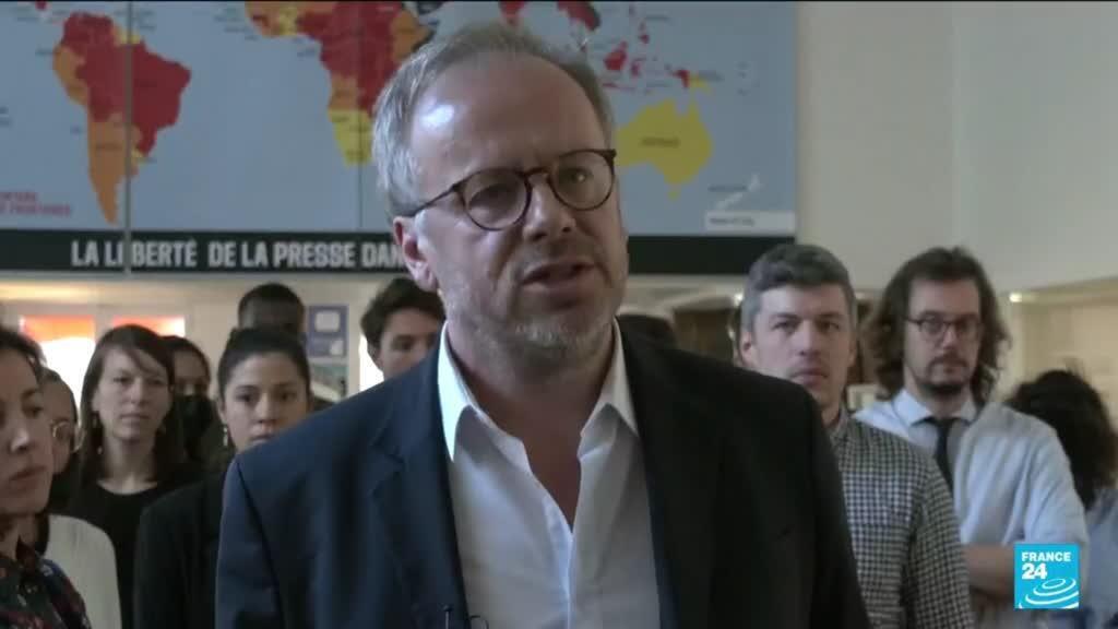 """2021-10-08 12:04 Le Nobel de la paix à deux journalistes est """"un appel à l'action"""", estime RSF"""