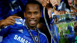 Didier Drogba, vainqueur notamment de la Ligue des champions 2012 avec Chelsea