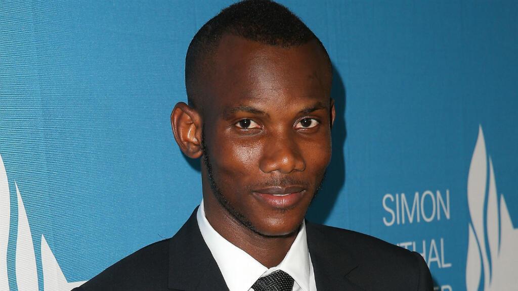 Lassana Bathily, le 24 mars, lors de la cérémonie du centre Simon-Wiesenthal organisée à Beverly Hills.