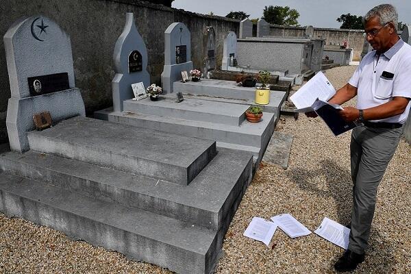 صورة تبين مقبرة للحركى الجزائرين في فرنسا
