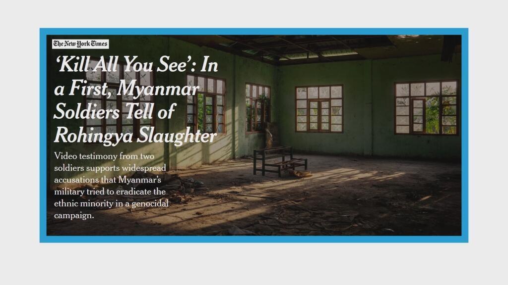 Confessions de deux soldats déserteurs birmans