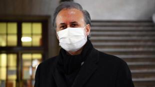Arrivée de Georges Tron pour son procès en appel devant la cour d'assises de Paris, le 25 janvier  2021