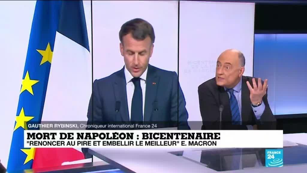 En clair-obscur, la Emmanuel Macron commémore les 200 ans de la mort de Napoléon