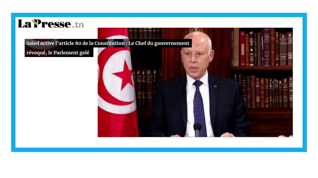 Le président tunisien suspend le parlement et démet le Premier ministre
