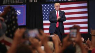 Donald Trump lors d'un meeting à Cedars Rapids, en Iowa, le 21 juin 2017.