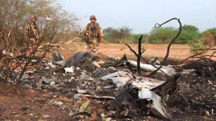 La zone du crash du vol AH5017