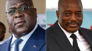 Tussle: President Felix Tshisekedi, left, and predecessor Joseph Kabila