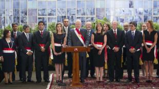 El presidente de Perú, Pedro Pablo Kuczynski, junto a su gabinete de ministros durante la ceremonia de nombramientos celebrada el 9 de enero de 2018 en Lima.