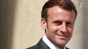 Le président Emmanuel Macron à l'Elysée, le 23 juillet 2020 à Paris
