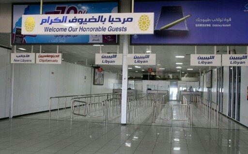 مطار معيتيقة الدولي في طرابلس في 4 أيلول/سبتمبر 2018