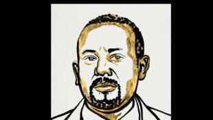 Croquis du Premier ministre éthiopien Abiy Ahmed.