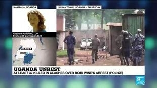 2020-11-20 13:02 Uganda unrest: Bobi Wine released on bail as protest death toll rises to 37