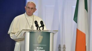Le pape François lors d'une visite en Irlande, le 25 août 2018.