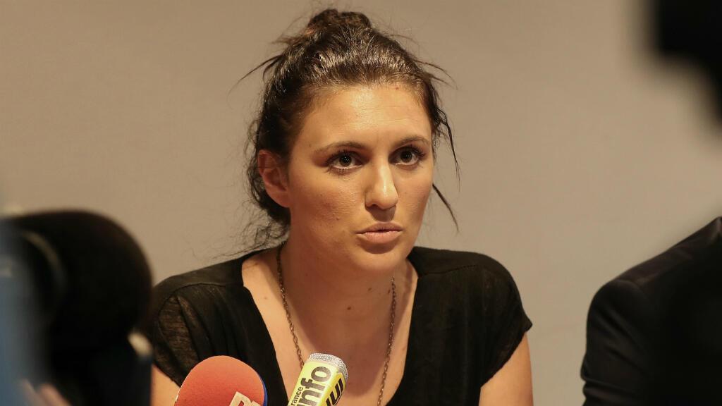 La responsable de la vidéosurveillance à Nice, Sandra Bertin, dimanche 24 juillet 2016, lors d'une conférence de presse.