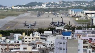 La base estadounidense de Futenma, en Ginowan, en la prefectura japonesa de Okinawa, en una imagen del 14 de noviembre de 2014