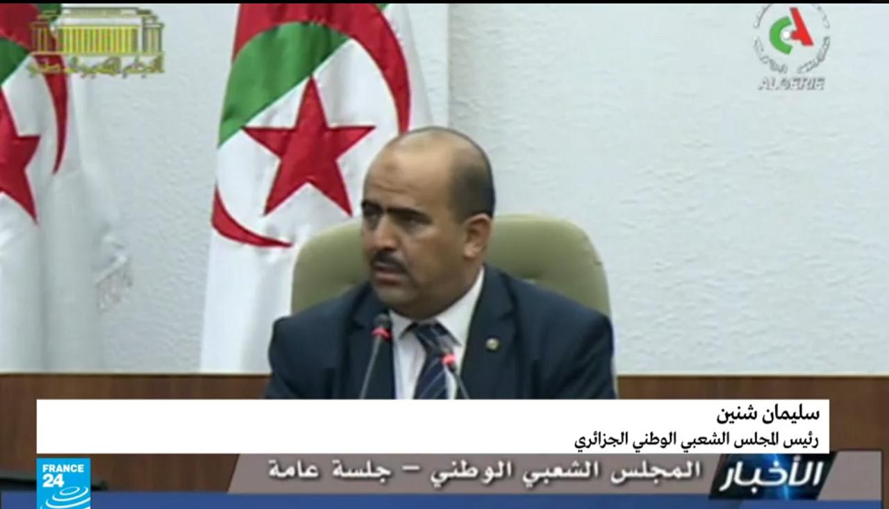 سليمان شنين رئيس المجلس الشعبي الوطني الجزائري المنتخب.