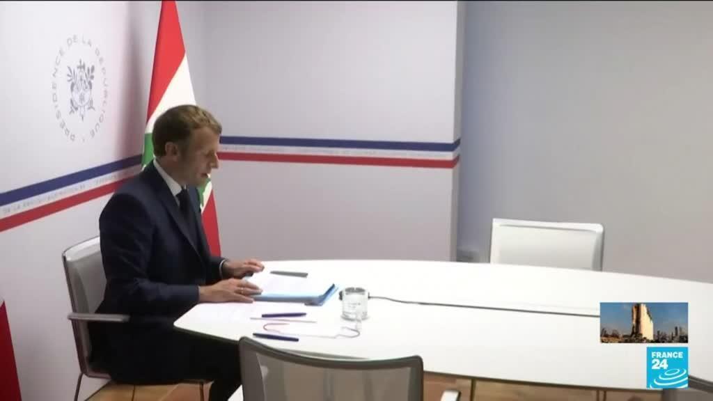 2021-08-04 14:33 E. Macron promet 100 millions d'euros de plus au Liban mais fustige à nouveau ses dirigeants