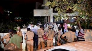 La maison à Bangalore où la journaliste Guari Lankesh a été tuée, le 5 septembre 2017.