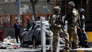Un ataque suicida con bomba atacó un punto de control en, Kabul, Afganistán, el 5 de septiembre de 2019.