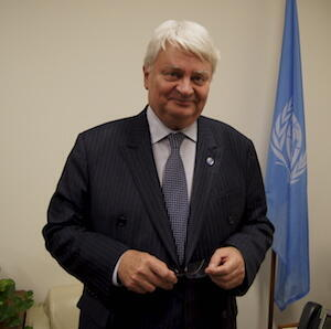 "UN Under-Secretary-General for Peacekeeping Operations, Hervé Ladsous, in his office at the UN. Ladsous admitted that UNAMID had ""under-reported"" on the situation in Darfur. © Sophie Pilgrim, FRANCE 24."