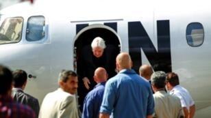 وصول الموفد الدولي مارتن غريفيث إلى مطار صنعاء في 21 تشرين الثاني/نوفمبر 2018
