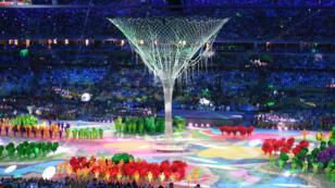 الحفل الختامي لدورة الألعاب الأولمبية ريو 2016 على ملعب ماراكانا في ريو دي جانيرو في 21 أغسطس/آب 2016