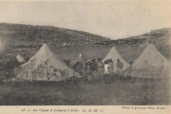 Un bordel militaire de campagne au Maroc dans les années 1920