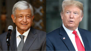 El presidente electo de México, Andrés Manuel López Obrador (izquierda) y el presidente de Estados Unidos, Donald Trump (derecha).