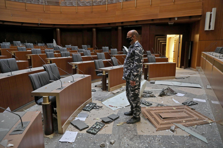 صورة من داخل مجلس النواب اللبناني.