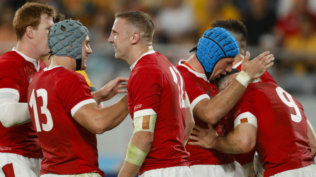 Wales celebrate 'great win' over Australia in Rugby World Cup