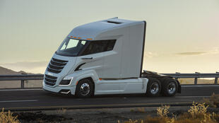 A prototype Nikola Two, one of the models being developed by the zero-emissions truck maker