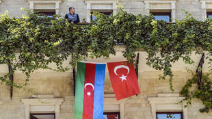 Azerbaijanis have been rushing to buy not just their own national flag, but that of Turkey