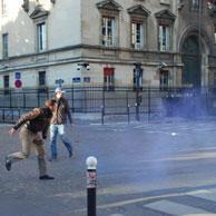 Incidents à l'issue de la manifestation, 293 interpellations
