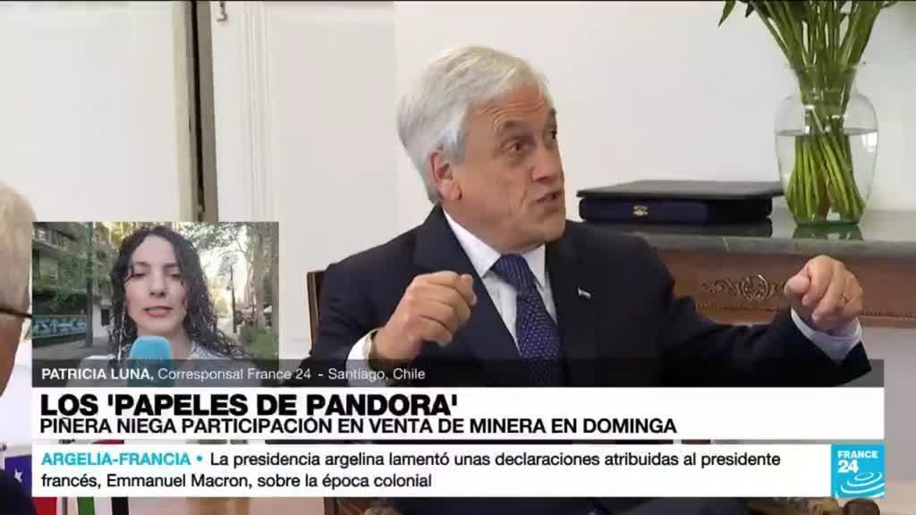 2021-10-04 01:03 Informe desde Santiago: presidente Piñera niega participación en venta de Minera Dominga