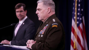 Gen. Mark Milley speaks during a news conference at the Pentagon in Arlington, Virginia, US, April 14, 2020.