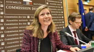 La députée LREM Yaël Braun-Pivet, corapporteure de la commission d'enquête de l'Assemblée nationale sur l'affaire Benalla, le 25 juillet 2018.