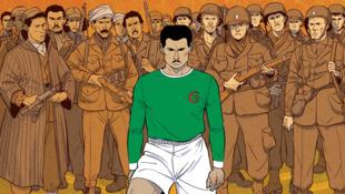 """La couverture de la bande dessinée """"Un maillot pour l'Algérie"""""""
