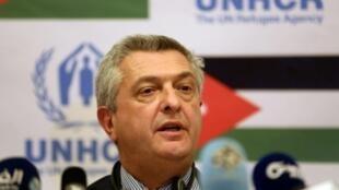 المفوض الأعلى لشؤون اللاجئين فيليبو غراندي في عمان في 24 ت1/أكتوبر 2016