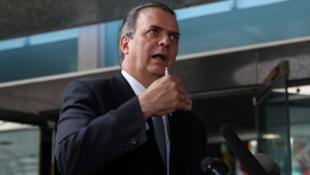 El canciller de México, Marcelo Ebrard, después de la reunión con funcionarios estadounidenses en Washington, Estados Unidos. 6 de junio de 2019.