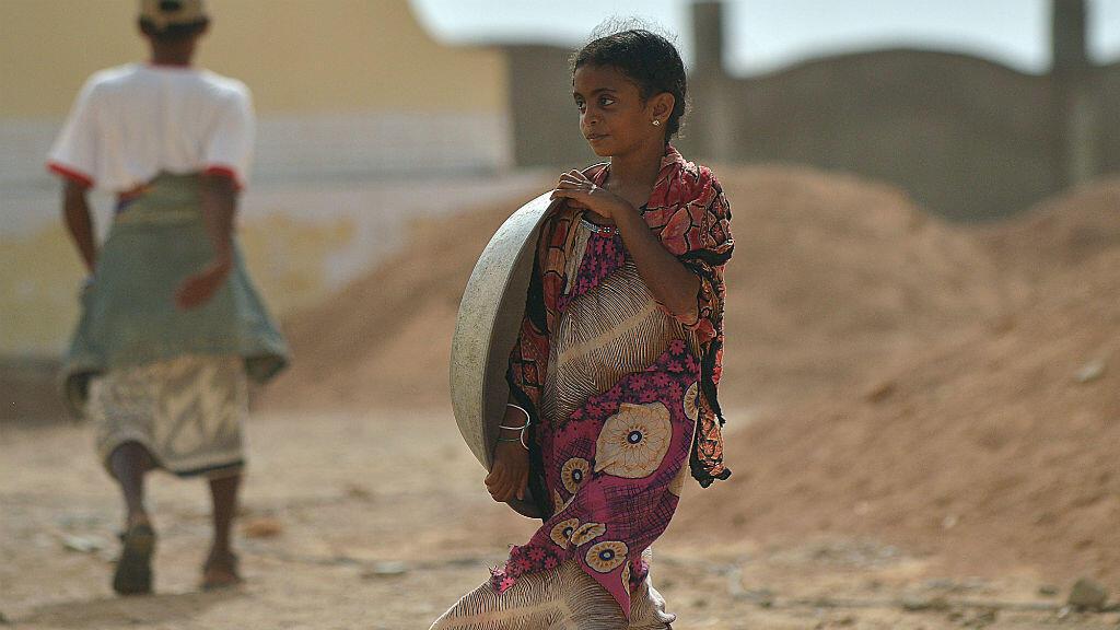 Une jeune Yéménite réfugiée dans un camp du HCR à Djibouti, le 13 avril 2015.