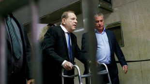 Disgraced movie mogul Harvey Weinstein in New York, December 11, 2019.