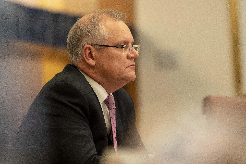 Imagen de archivo. El primer ministro australiano Scott Morrison en Canberra, Australia, el 26 de marzo de 2020.
