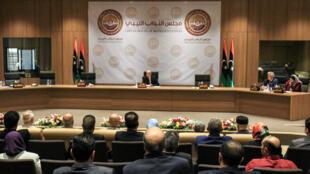 Le parlement libyen à Benghazi, le 12 avril 2019.