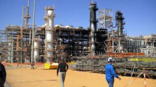Le site gazier d'In Amenas, dans le sud de l'Algérie, qui avait été attaqué par des jihadistes en janvier 2013.