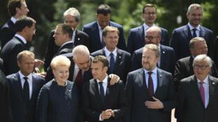 Los representantes de la Unión Europea se muestran firmes para defender los intereses del bloque en Irán. Mayo 17 de 2018.