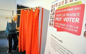 Tout est bon pour inciter les sympathisants de gauche à voter les 9 et 16 octobre prochain... y compris une simulation de vote !