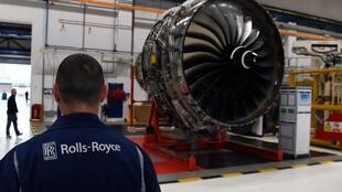 A Rolls-Royce factory in Derby, England, where the company is headquartered.