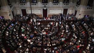 Imagen divulgada por el Senado argentino de la inauguración del 138º período de sesiones ordinarias del Congreso, el 1º de marzo de 2020 en Buenos Aires